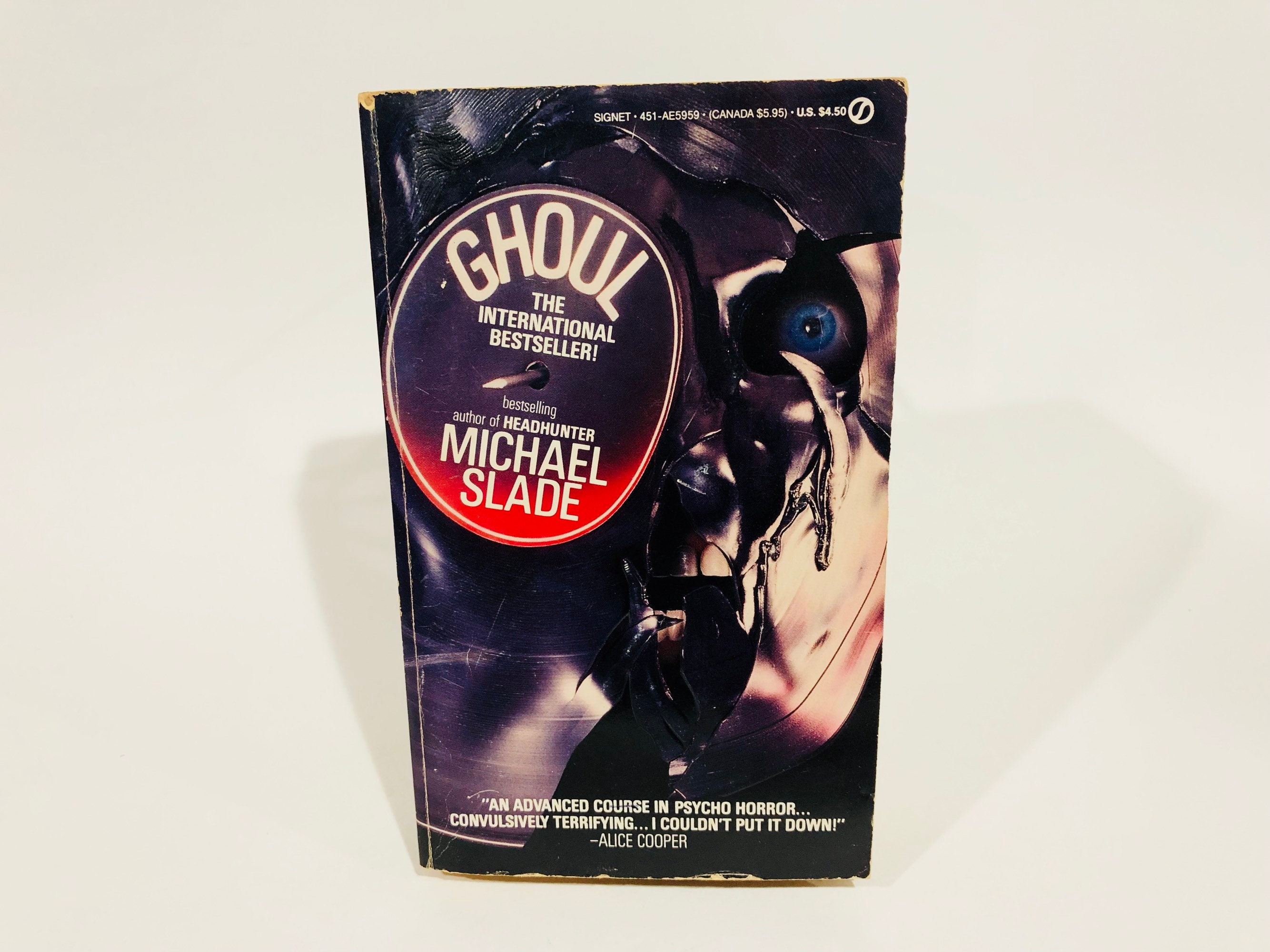 Vintage Horror Book Ghoul By Michael Slade 1989 Paperback Etsy Headseet Kw Zoom