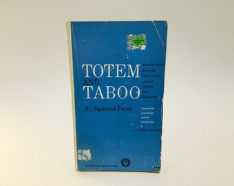 Vintage Book Totem and Taboo by Sigmund Freud 1946 Paperback