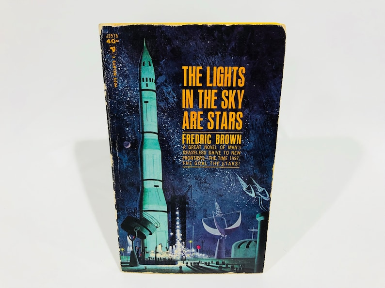 Vintage Sci Fi Book The Lights In The Sky Are Stars by Frederic Brown 1963  Paperback
