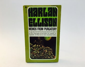 Vintage Pop Culture Book Notes From Purgatory by Harlan Ellison 1976 Paperback