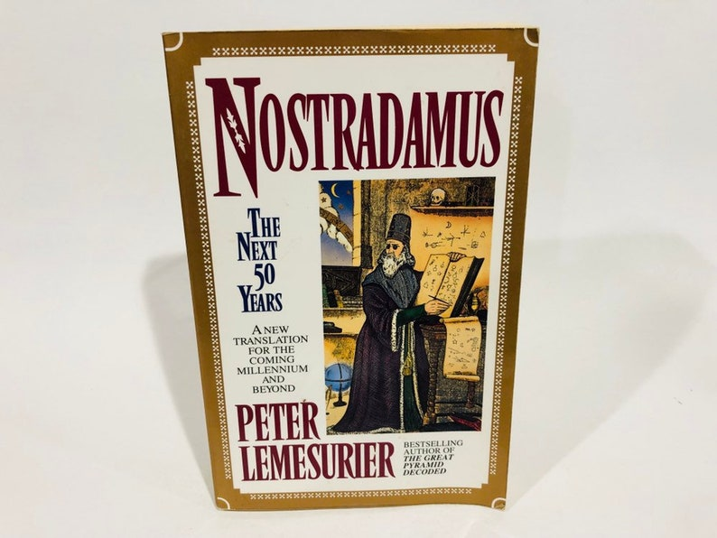Vintage Occult Book Nostradamus: The Next 50 Years by Peter Lemesurier 1994  Softcover