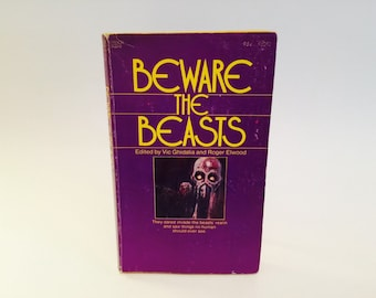 Vintage Horror Book Beware the Beasts 1973 Paperback Anthology