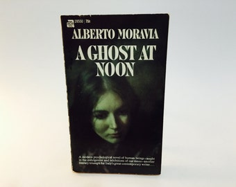 Vintage Book A Ghost At Noon AKA Contempt by Alberto Moravia 1960s Edition Paperback