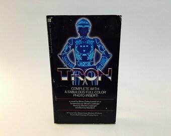 TRON Film Novelization 1982 Vintage Sci Fi Paperback Book