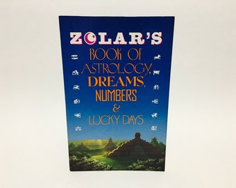 Vintage Occult Book Zolar's Book of Astrology, Dreams, Numbers and Lucky Days 1990 Softcover