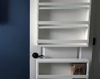 Full Door Mounted Spice Rack, Pantry Door Spice Rack, Door Spice Rack, Back  Of Door Spice Rack, Pantry Door Storage, Spice Rack For Door,