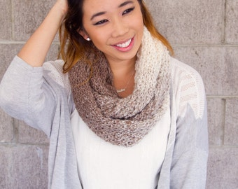 Infinity scarf in Ombre tan | Ready to Ship