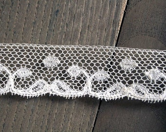 """Antique French lace 82"""" long parsley edging trim"""