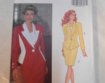 Vintage PATTERN Butterick 5911 Misses' Jacket & Skirt  Size  6, 8, 10