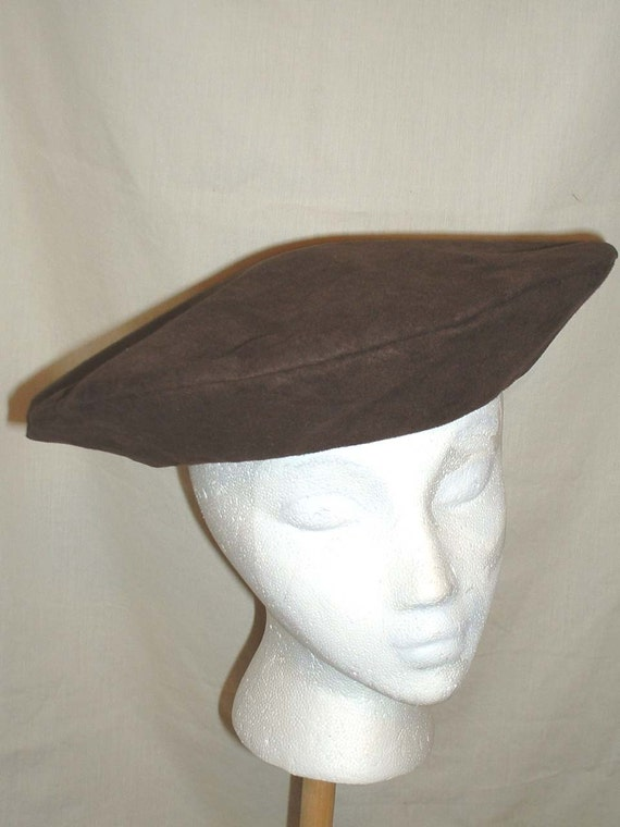 A147 Flat Hat Flat Cap Head wear Men s Medieval  e3680e5dcce