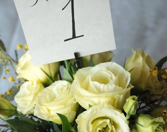 Printable Wedding Table Numbers - Instant download