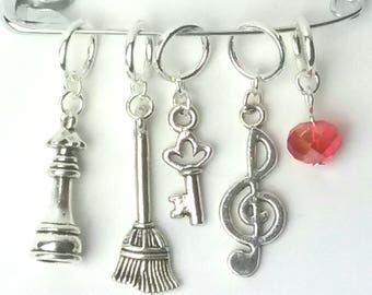 Quest for the Philosopher's Stone knitting or crochet stitch markers