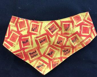 QK2-1714  I'm Talking - Stamped Printed Quilt-Kerchief