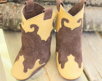 89b5b894c2111 Leather Baby Cowboy Boots Rodeo Boots Baby Photo Shoot | Etsy