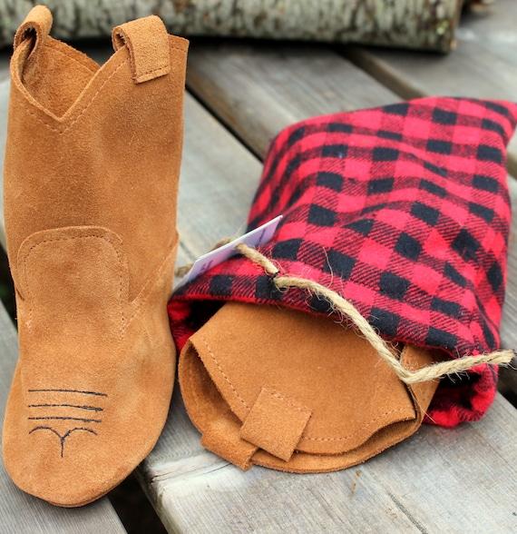 doublé hiver enfants de cadeau Cowboy d'anniversaire Bottes cuir daim en bottes enfant laine en Cowboy marron bottes enfant cuir bottes 43Lj5ARq