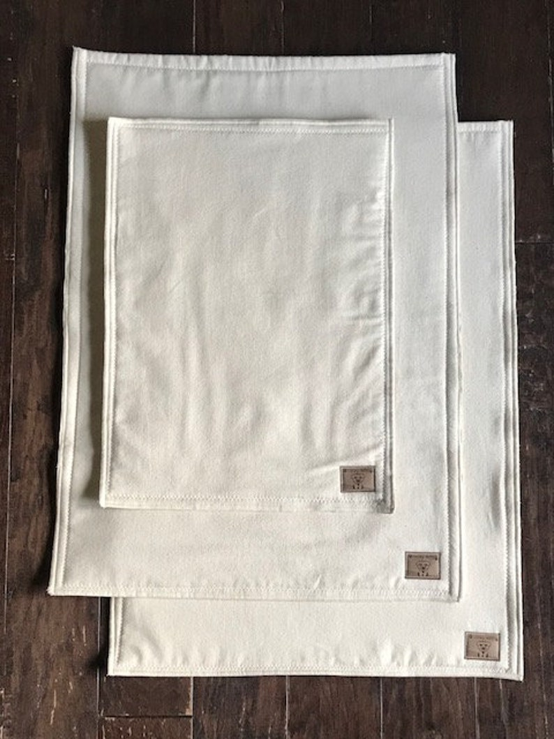 Lucky Mats Organic Cotton Flannel Crate Mat Pads 13 x 20 Double ply Reusable