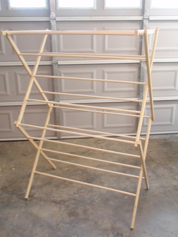 Large Clothes Drying Rack 50 Feet Of Drying Space Large Etsy