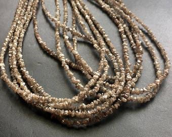 3mm Brown Faceted Diamond Beads Faceted Diamond Rondelle 10Pcs To 50Pcs Brown Diamond Beads Conflict Free Diamonds For Jewelry