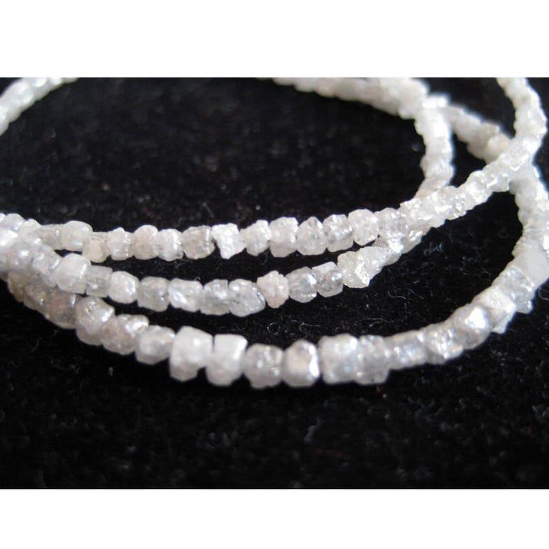 8 Inch Strand 1mm To 2mm Beads Conflict Free Diamond Natural Diamonds White Grey Diamond Box Beads Rough Diamonds Raw Diamonds