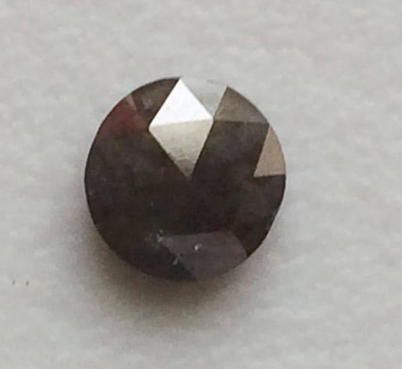 55 Mm Gris Rose Cut Diamond Rare Lustre Gris Naturel Cabochon