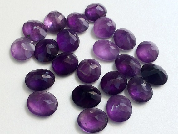 10X14 MM Oval Natural Purple African Amethyst Cabochon Cut Calibrated Gemstone