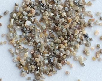 Brown Raw Diamond, Brown Rough Diamond, Rough Diamond, Uncut Diamond, Loose Diamond, Brown Conflict Free 3-4mm, 2-3 Pcs, 1 Carat