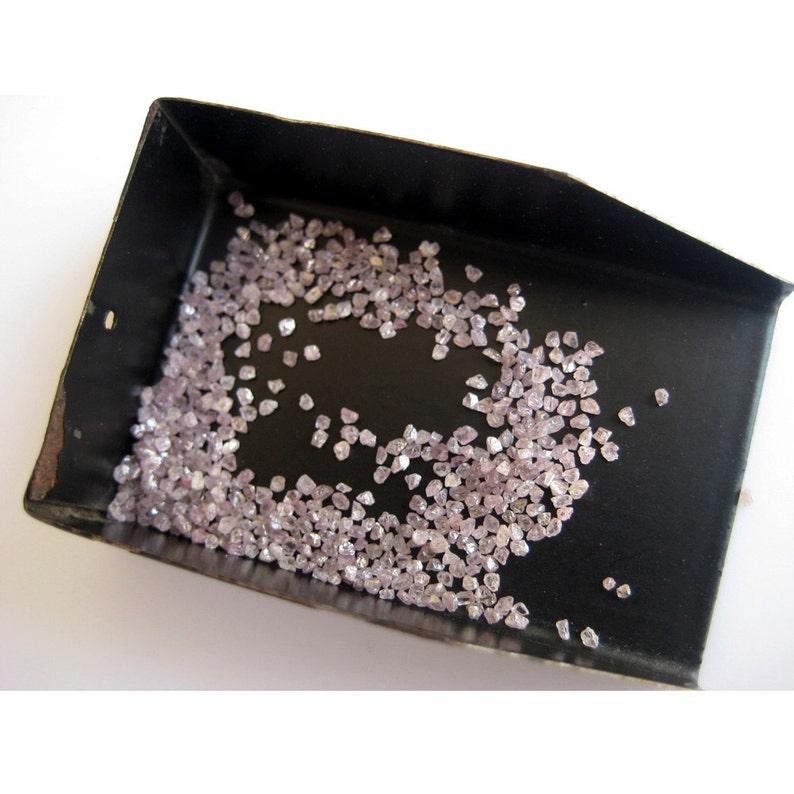 Natural Rough Diamond 1mm Each Uncut Diamond Raw Uncut Diamond 2 Carat Weight Pink Diamond AAA Pink Diamonds