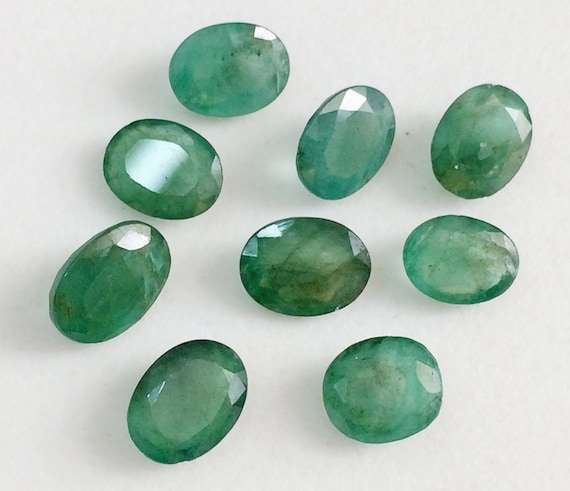 1.00 Carat Certified Natural Emerald oval shape loose gemston loop clean faceted stone 7.5X5.3X3MM Untreated Unheated gemstone