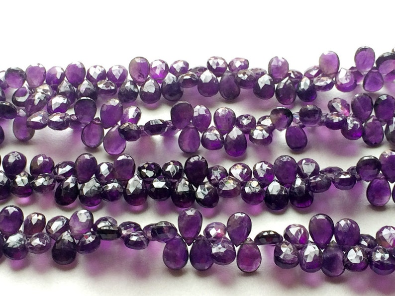 Purple Amethyst Amethyst Necklace 10 Pieces Amethyst Faceted Pear Shape Briolettes 7x10mm Beads