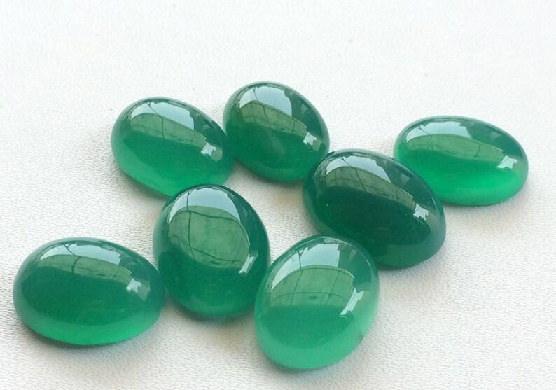 21x15mm Green Onyx Plain Flat Back Cabochons 18.5x14.5mm 5 Pieces Green Onyx Oval Cabochons Green Onyx Gems For Jewelry NNG50