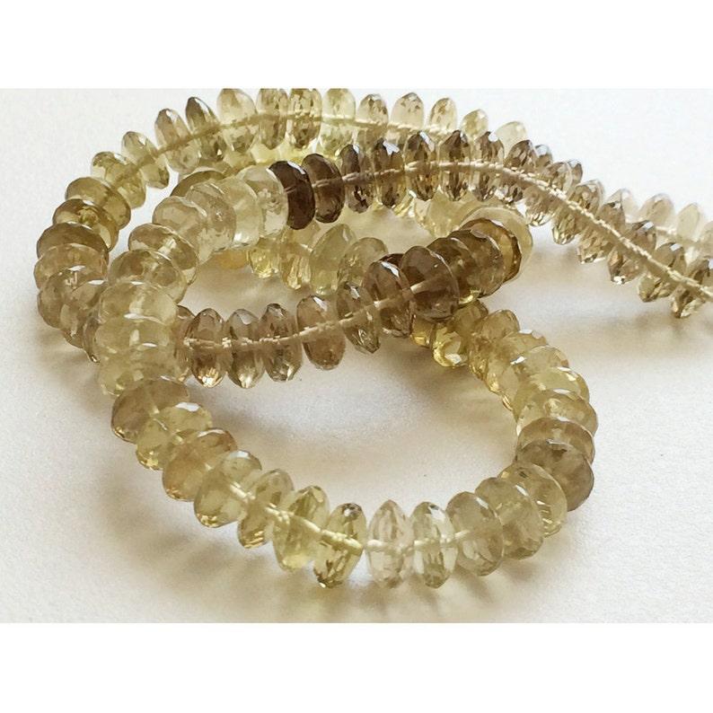8mm Faceted Lemon Rondelles 56 Pieces AAA Lemon Gemstone German Cut Or Disc Beads 7.5mm Bicolored Lemon Beads 8 Inch Half Strand