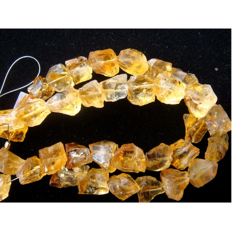 15mm Pretty Yellow Crystal Quartz Rose Loose Beads 15PCS