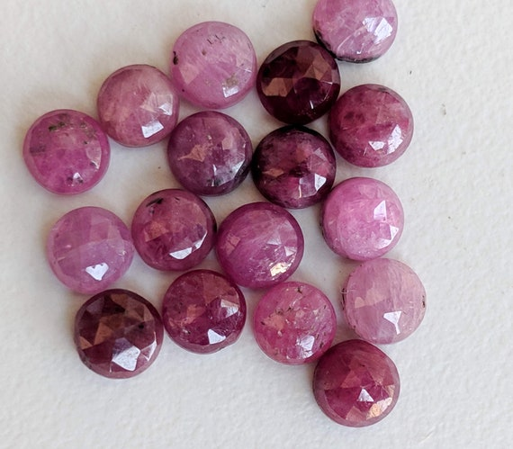Exclusive Quality Natural Pink Sapphire faceted Rose Cut Pear Cabuchons 10x15 mm 2 pcs ON SALE 50 /%