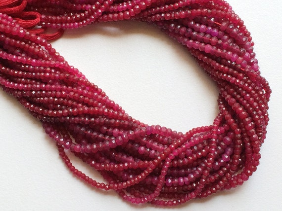 Red Quartz Beads Red Quartz Micro Faceted Rondelle Beads Red Beads 13 Inch Strand Wholesale Quartz Necklace Size 4mm To 4.5mm approx