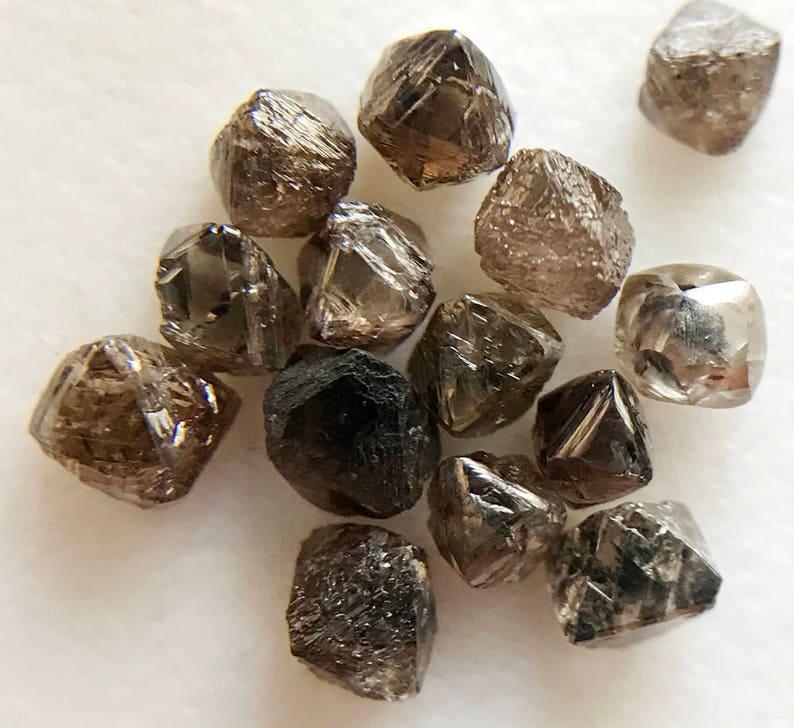 4b7a5daacced33 14 szt brązowy surowego kryształu diament naturalne surowca | Etsy