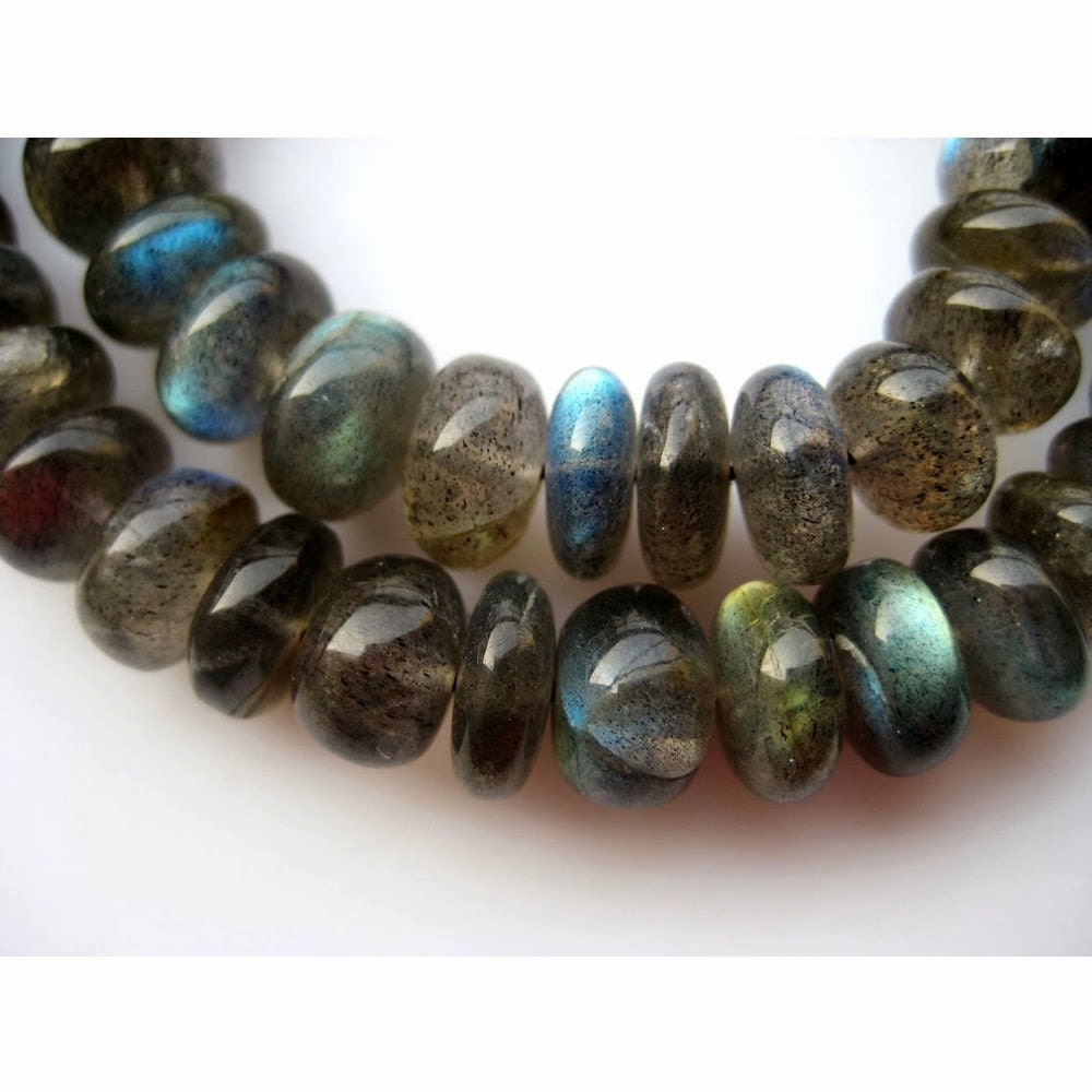 Natural Gem Flashing Blue Fire Labradorite 3-6MM Smooth Rondelle Beads 16 Full Strand Super Quality Strong Blue Flash Finished Necklace