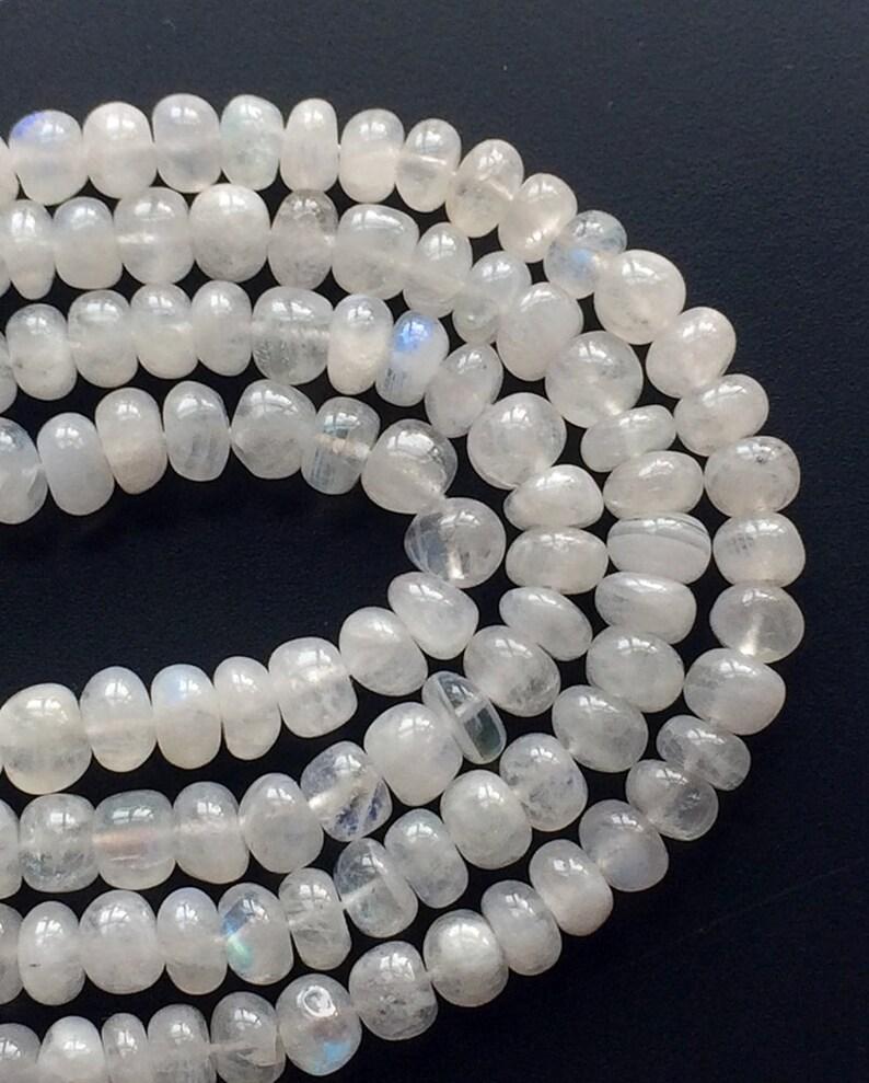 Rainbow Moonstone Necklace 14 Inch Strand Rainbow Moonstone Plain Rondelle Beads Moonstone 5mm Beads