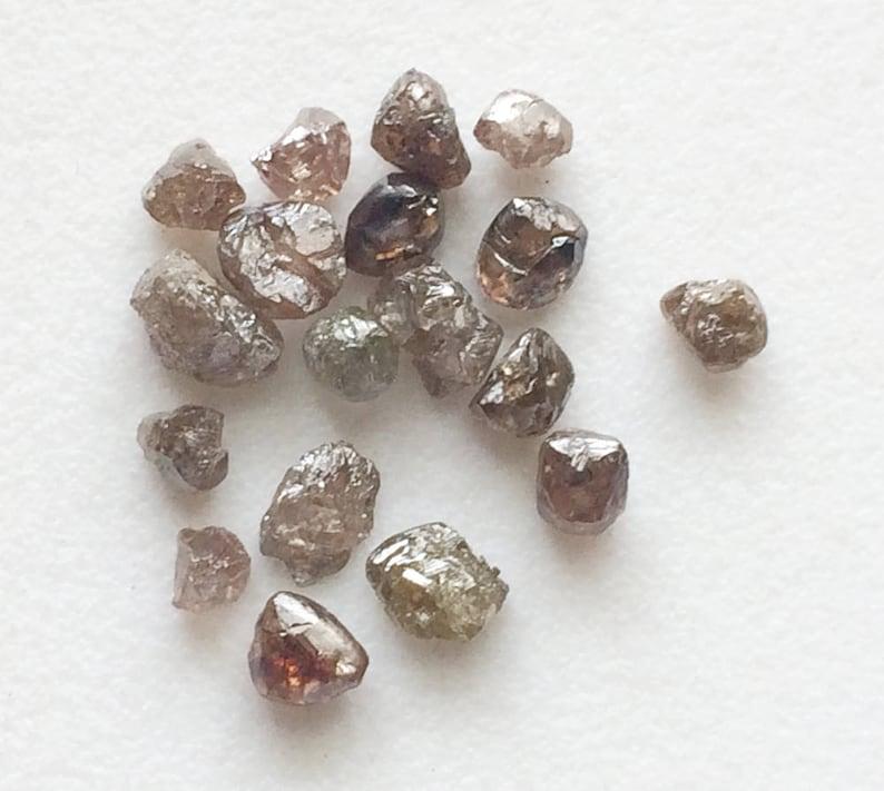 22f88db50639d5 9 szt jasno brązowy surowy diament kryształ naturalny Funt | Etsy