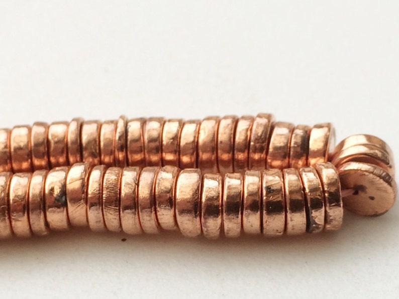 Metallic Copper Pyrite Plain Spacer Beads AGP192 Pyrite Necklace 6mm 14 Inch Copper Pyrite Tyre Beads