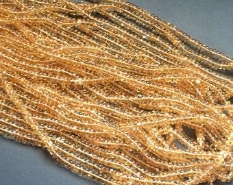 Citrine Beads, Natural Citrine Plain Rondelle Beads, Citrine Stone, Citrine Necklace, 4mm, 8 Inch - KRS232