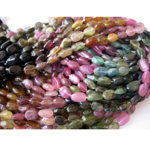 26 Pcs SOLD OUT 8 Strand 8mm-12mm Tourmaline Smooth Pebble