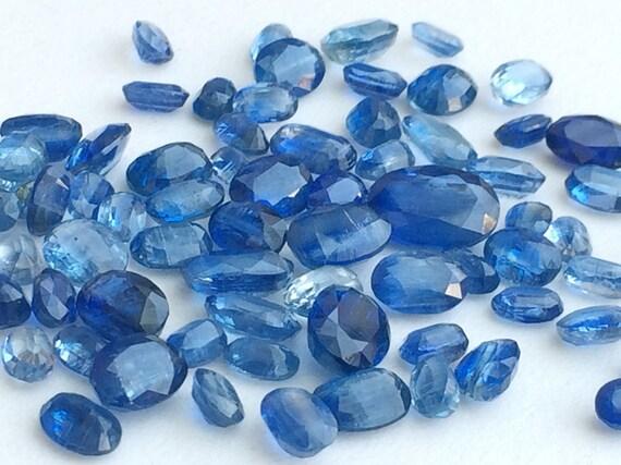 Vente en gros 12 pièces, pièces, pièces, 10 Ctw Kyanite ovale coupé beaucoup Pierre, pierres de Kyanite ovale à facettes, lâche Kyanite, 4x6mm - 8x6mm - Ks3166 727333