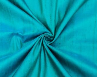 Peacock Green Blue Silk Fabric By The Yard, Silk Fabric, Silk Dupioni Fabric, Wholesale Silk Fabric, Two Tone Silk, Slub Silk