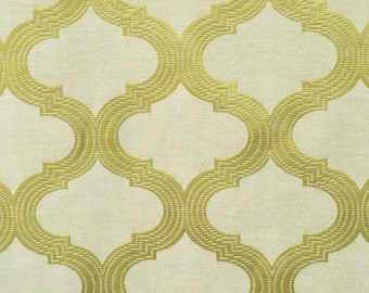 Geometric Lime Green Curtain Fabric By The Yard Upholstery Fabric Drapery Fabric Window Treatment Fabric Sofa Fabric Floral Wholesale Fabric