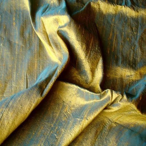 Vente en gros offre 100 10 % de réduction - 6 Yards 100 offre pour cent Pure soie Dupioni tissu de couleur Turquoise et or 77534d