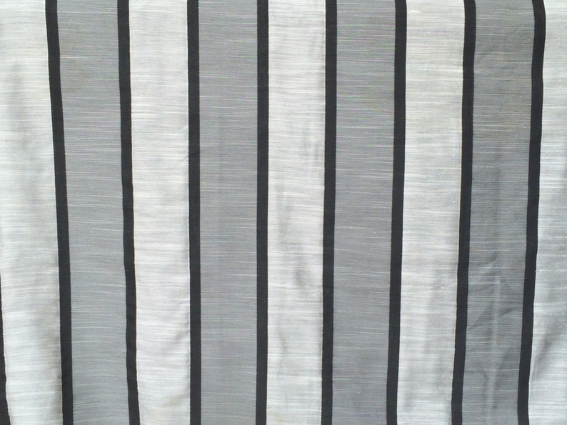 Regency Stripes Curtain Fabric By The Yard Upholstery Fabric image 1