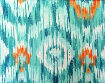 Blue Ombre Geometry Curtain Fabric By The Yard, Upholstery Fabric, Drapery Fabric, Window Treatment Fabric, Sofa Fabric, Wholesale Fabric