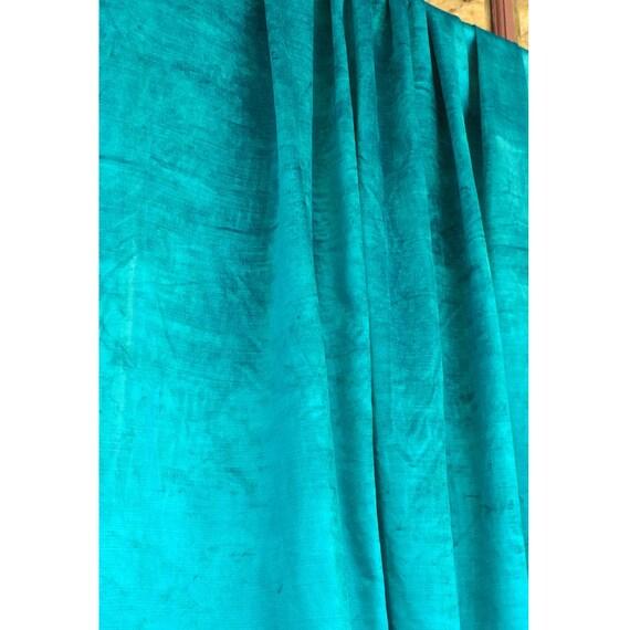 coton viscose bleu turquoise velours rideau doubl en velours etsy. Black Bedroom Furniture Sets. Home Design Ideas