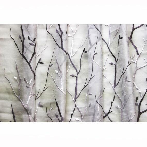 N vino púrpura lavanda árboles visillo bordado tela por la | Etsy