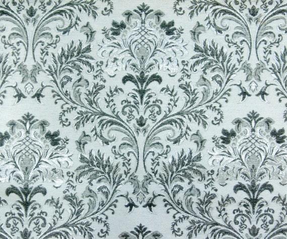 Black Grey Waves SO Fabric By The Yard Curtain Fabric Upholstery Fabric Curtain Panel Drapery Fabric Window Treatment Jacquard Weave